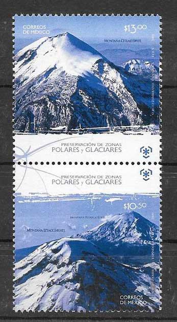 Colección sellos montañas de méxico