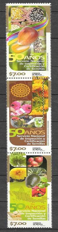 sellos flora México 2011