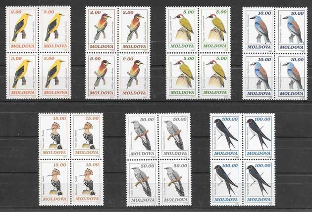 Sellos Filatelia fauna diversa - aves 1993