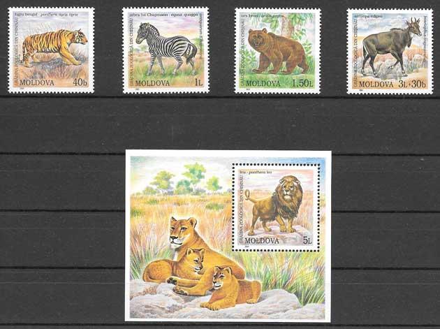 Sellos Filatelia fauna - animales salvajes