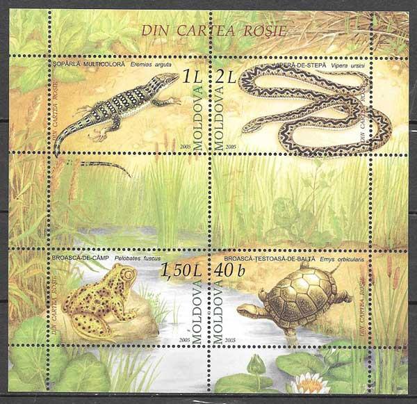 sellos fauna Moldavia 2005