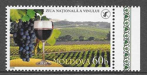 colección sellos flora Moldavia 2006
