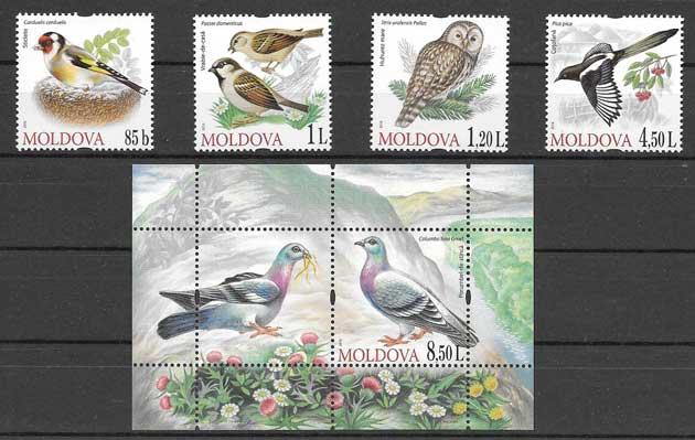 Filatelia fauna -  aves diversas 2010