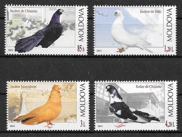 filatelia colección fauna Moldavia 2012