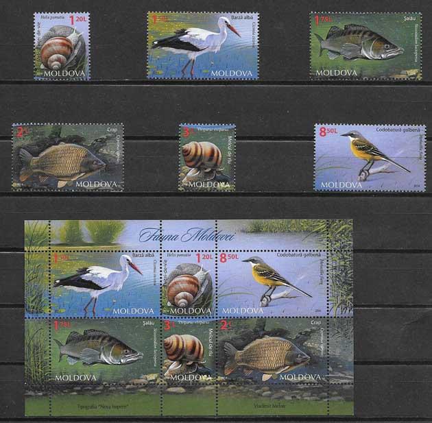 Colección sellos fauna diversa 2015