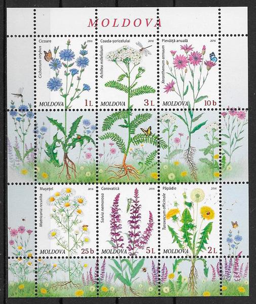 sellos flora Moldavia 2016