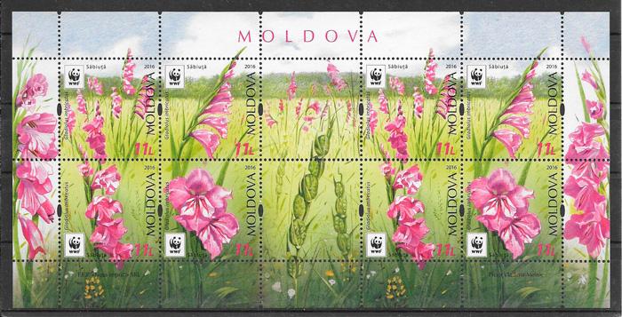 filatelia flora Moldavia 2016