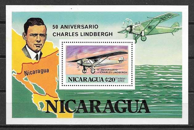 Colección sellos transporte Nicaragua 1977