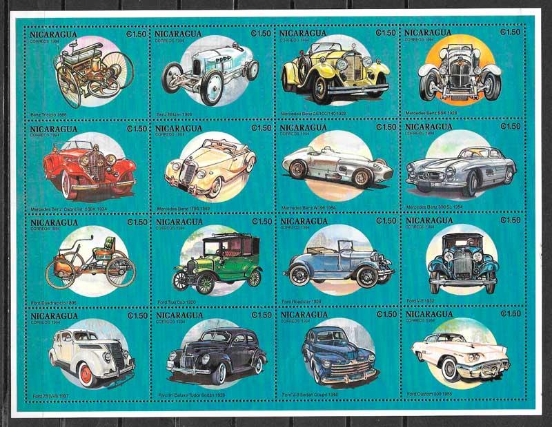 clección sellos transporte Nicaragua 1994
