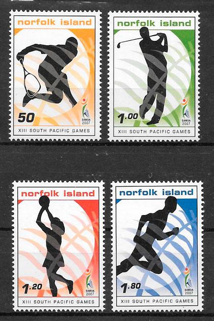 filatelia deporte Norfolk Island 2007