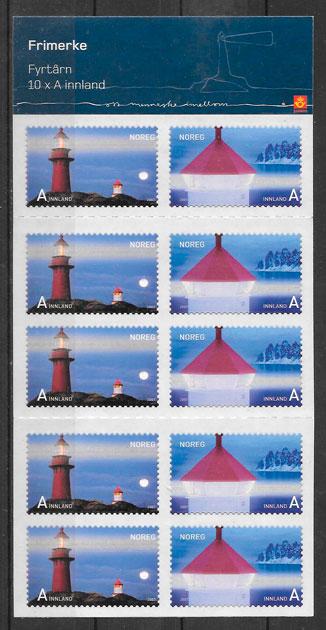 filatelia colección faros Noruega 2007