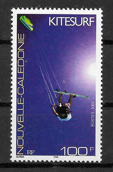 filatelia deporte Nueva Caledonia 2001