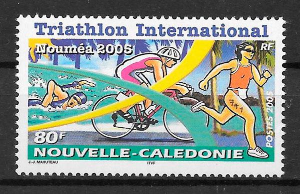 sellos deporte Nueva Caledonia 2005