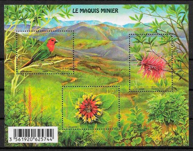 sellos fauna y flora Nueva Caledonia 2014