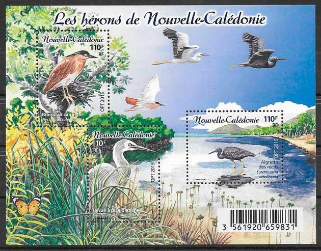 sellos fauna Nueva Caledonía 2015