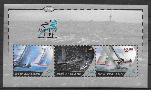 filatelia deporte Nueva Zelanda 2003