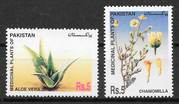 filatelia colección flora Pakistan 2006