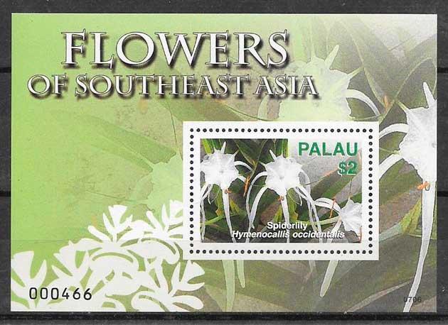 sellos flora Palau 2007