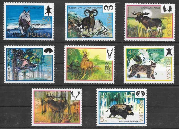 Colección sellos fauna diversa 1973