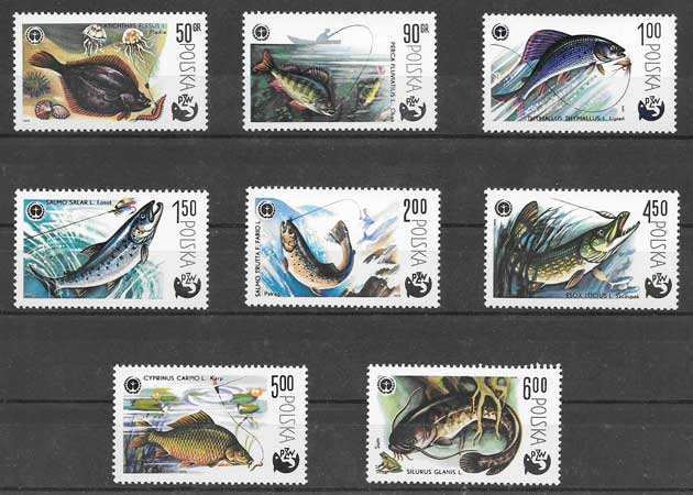 Colección sellos protección de la naturaleza