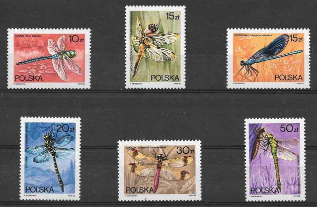 Sellos fauna libélulas 1988