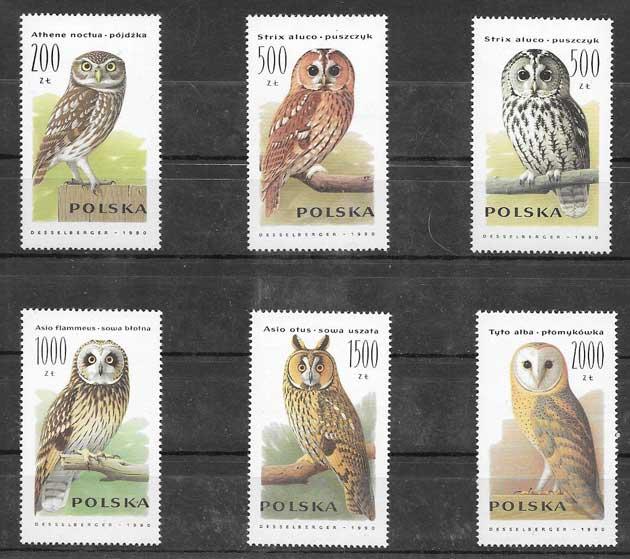 Filatelia fauna - aves rapaces 1990
