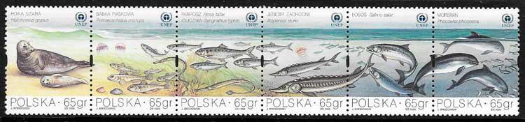filatelia fauna Polonia 1998