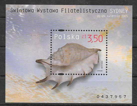 Sellos Filatelia fauna marina 2005