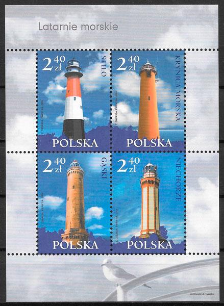 sellos faros Polonia 2006