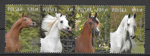 Colección sellos fauna caballos arabes