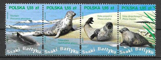 Sellos fauna marina Polonia 2009