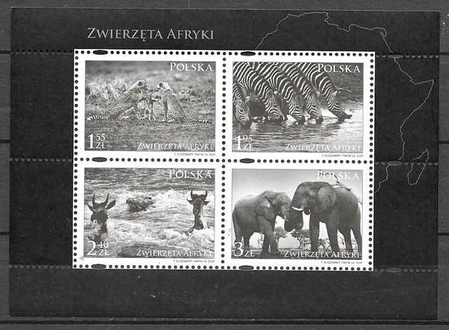 sellos fauna Polonia 2009