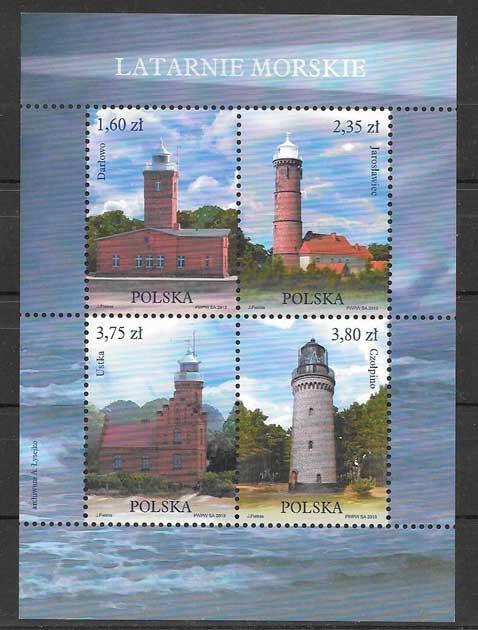 Colección sellos faros del 2013 Polonia