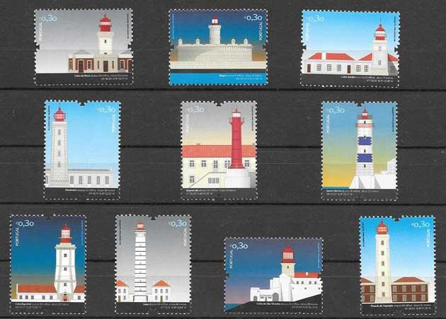 Colección sellos faros Portugal 2008