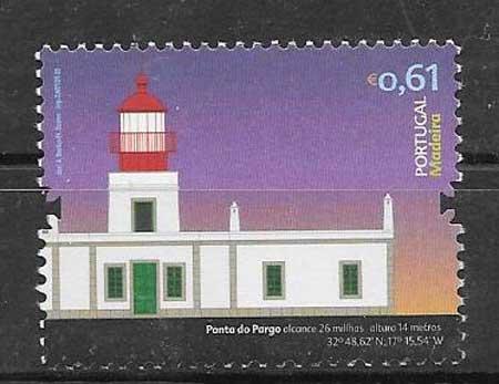 sellos faros Portugal Madeira 2008