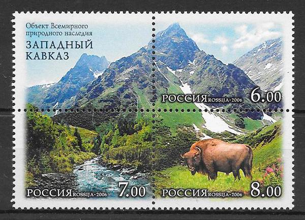 colección sellos fauna y flora Rusia 2006