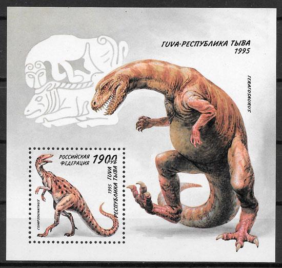 filatelia dinosaurios Rusia 1995