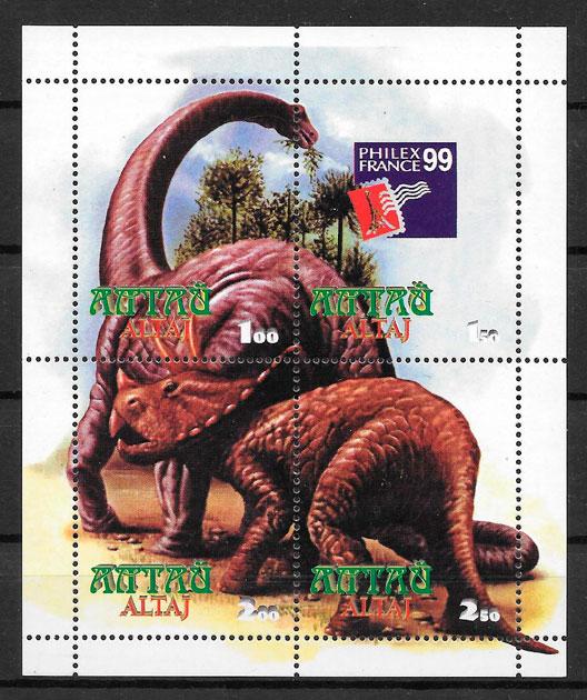 sellos dinosaurios Regiones de Rusia 1999