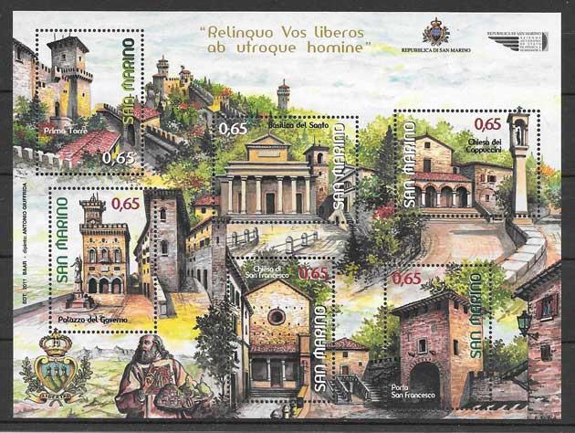 sellos arquitectura San Marino