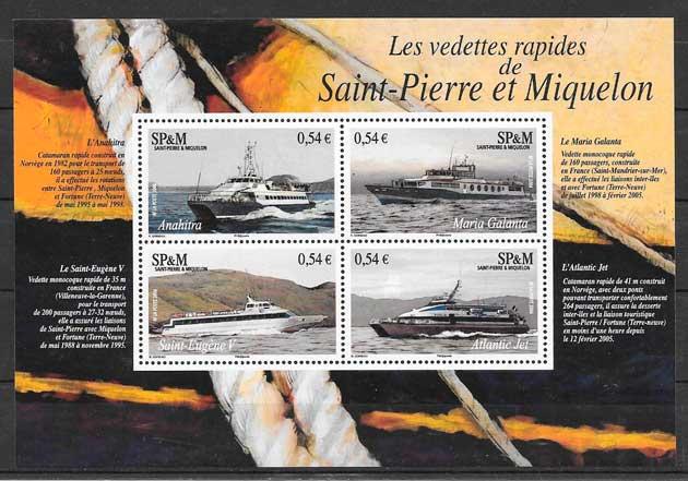 sellos transporte San Pierre y Miquelon 2006