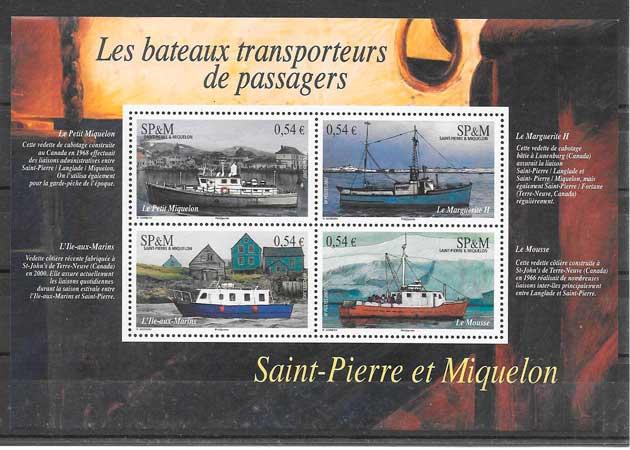 filatelia transporte San Pierre y Miquelon 2007