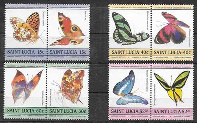 Filatelia sellos Santa-Lucia-1985-01