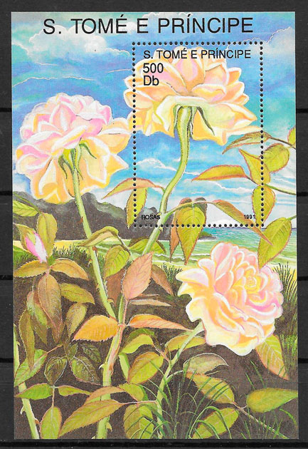 filatelia flora Santo Tomé y Princípe 1988