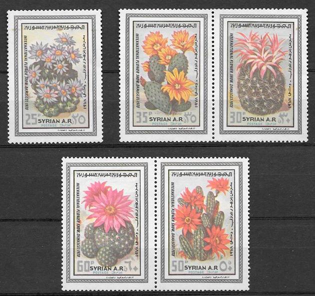 sellos flora Siria 1978