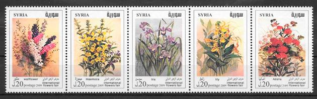 sellos flora Siria 2009