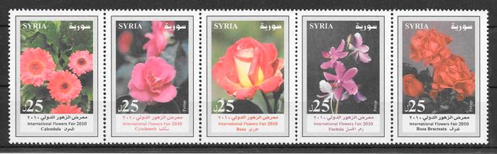 sellos flora Siria 2010