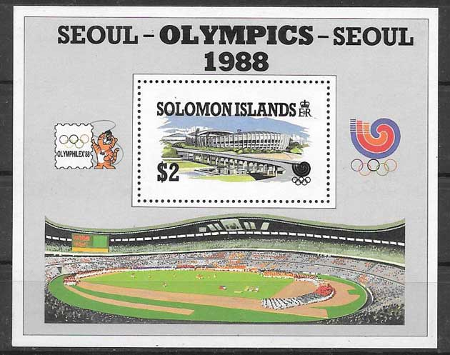 Filatelia deporte Salomon Island 1988