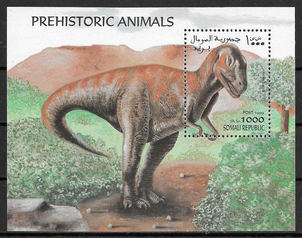 colección sellos dinosaurios Somalia 1999
