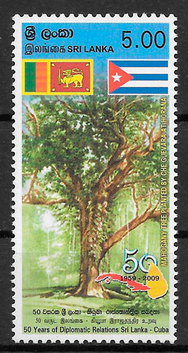 sellos flora Sri Lanka 2009