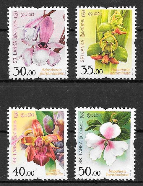 filatelia flora Sri Lanka 2016